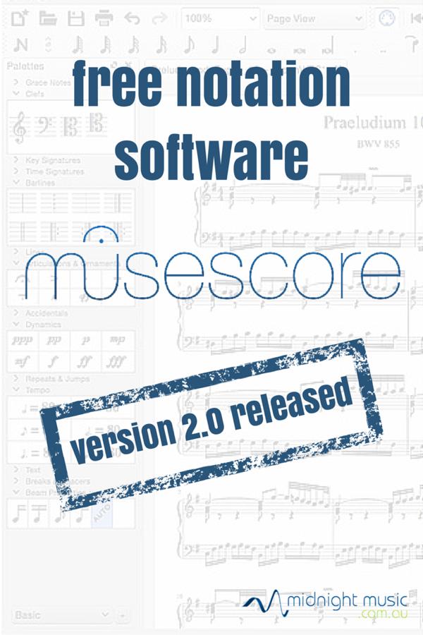 MuseScore 2.0 Updated Free Music Notation Software