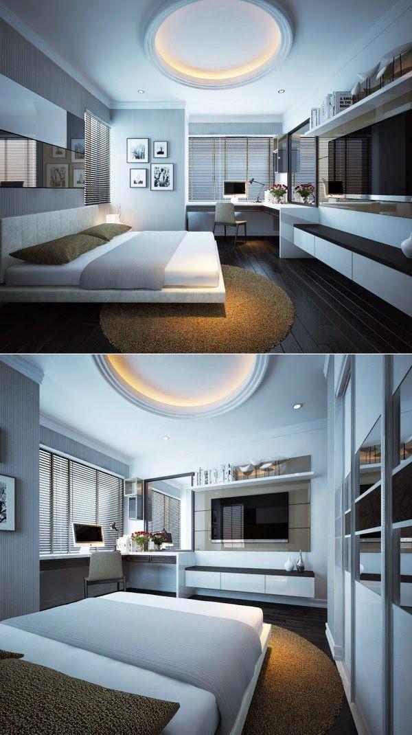 Dise o de interiores arquitectura 20 modernos dise os for Disenos de cuartos para hombre