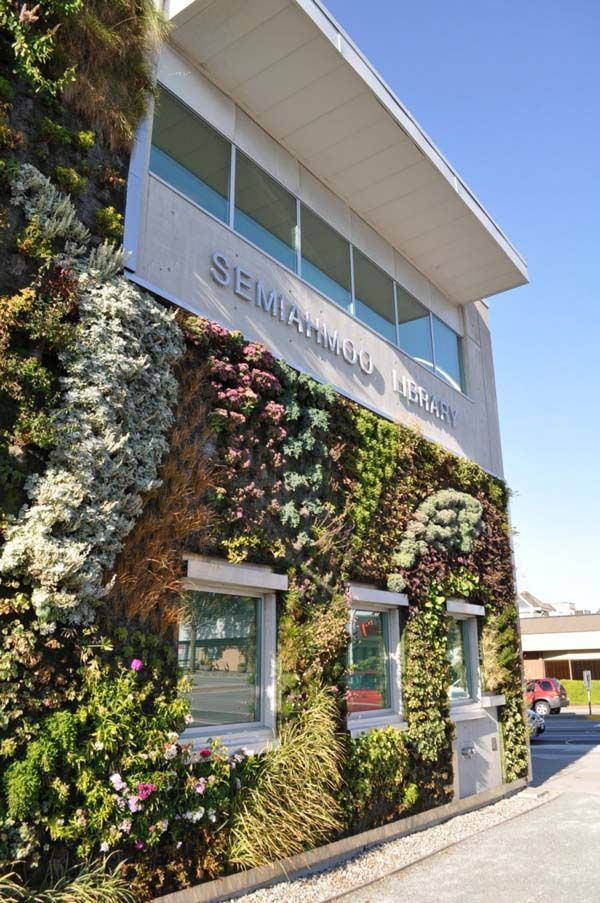 Largest Living Wall In North America: Semiahmoo Library Green Wall Awesome Design