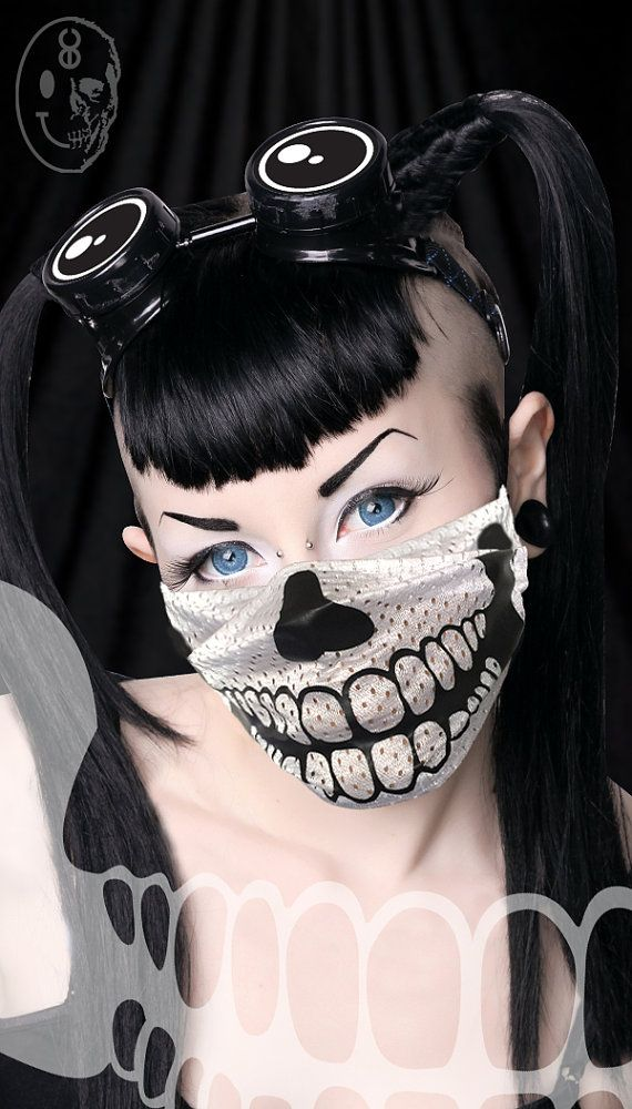 Godemperor 23 Skull Cyber Raver Surgical Mask Festival Goth