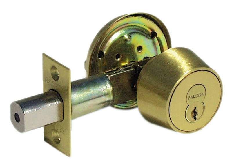 Falcon D131p Deadbolt Lock Chrome Finish Home Hardware