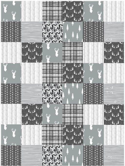 Gender Neutral Baby Quilt, Baby Boy Deer Quilt, Deer Baby Bedding ...