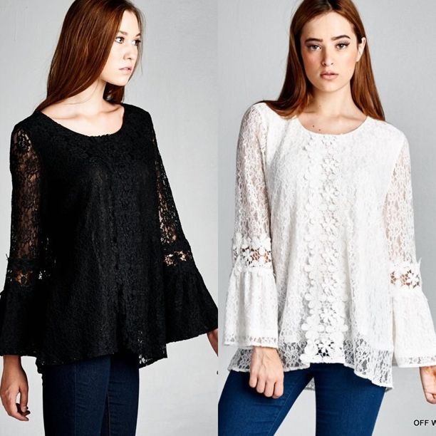 The perfect top for any occasion😍 {Solid All Lace Top $26}  Comment below with PayPal to purchase and ship or comment for 24 hour hold #repurposeboutique#loverepurpose#shoprepurpose#boutiquelove#style#trendy#fall