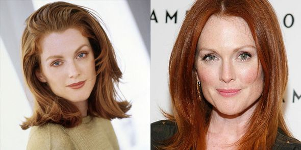 Julianne Moore Then Now Celebrities Then Now Hollywood