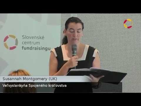 Veľvyslankyňa UK Susannah Montgomery na 3. slovensko-českej konferencii o fundraisingu 2012