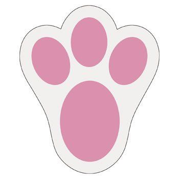 Bunny Paw Print Using These For Easter For The Kiddos Having Them Lead To Their Baskets Easter Bunny Template Easter Bunny Basket Easter Bunny Activities