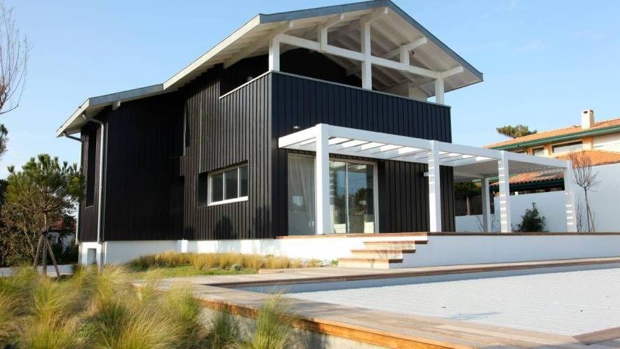 maison de prestige a vendre ossature bois anglet chiberta 64600 maison biarritz pinterest. Black Bedroom Furniture Sets. Home Design Ideas