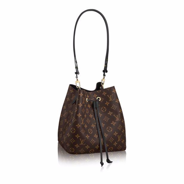 0a255f9c97c Louis Vuitton Noir Monogram Canvas Neonoe Bag   Bags in 2019 ...