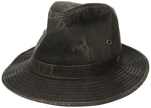 Indy Jones Mens Water Resistant Cotton Hat (Small d816fa96471b