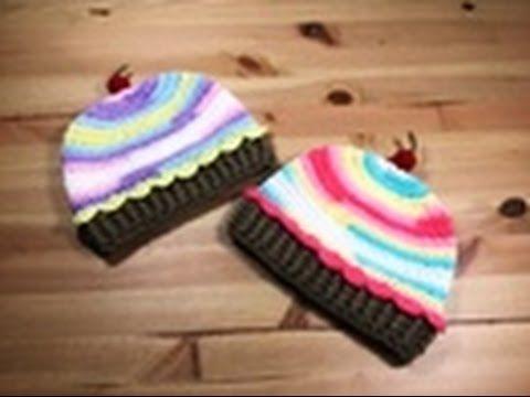 Nouveau crochet cupcake chapeau-bébé//enfant//adulte-différentes tailles-photo prop//cadeau!