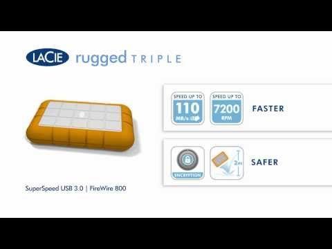 Lacie Rugged Triple Usb 3 0 Drive 500gb 7200rpm 139 99 Or 1tb 179 99 Usb 10 Things Driving