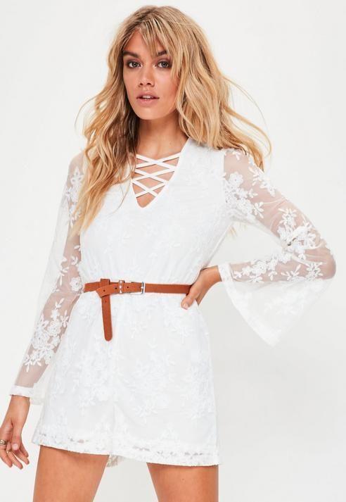 9ce7d5afc689 Missguided Petite White Lace Playsuit