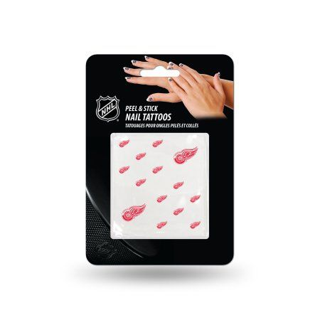 Detroit Red Wings Official NHL 1 inch x 1 inch Fingernail Tattoo Set by Rico Industries, Multicolor