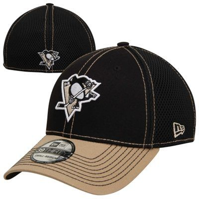 New Era Pittsburgh Penguins 39THIRTY 2Tone Neo Stretch Fit Hat - Gold/Black