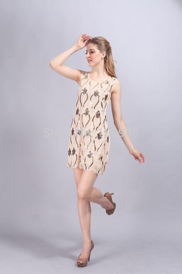 49b759ec9123c40 Купить товар Урожай элегантный мода вышивка изысканный бисером картина  блестка платье на бретелях платье вечернее платье блесток платье в  категории Платья ...