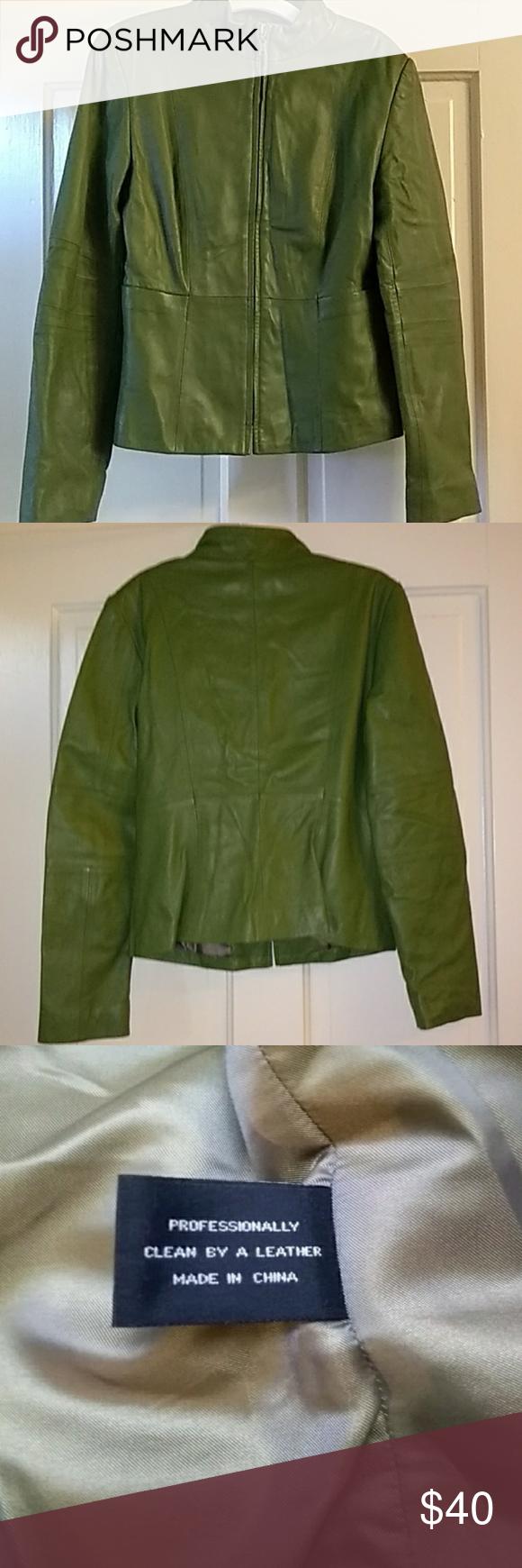 Spring Green Leather Jacket A Beautiful Olive Green Zion New York Jacket Euc Zipper Closing And Has Pocket Green Leather Jackets Green Leather Leather Jacket [ 1740 x 580 Pixel ]
