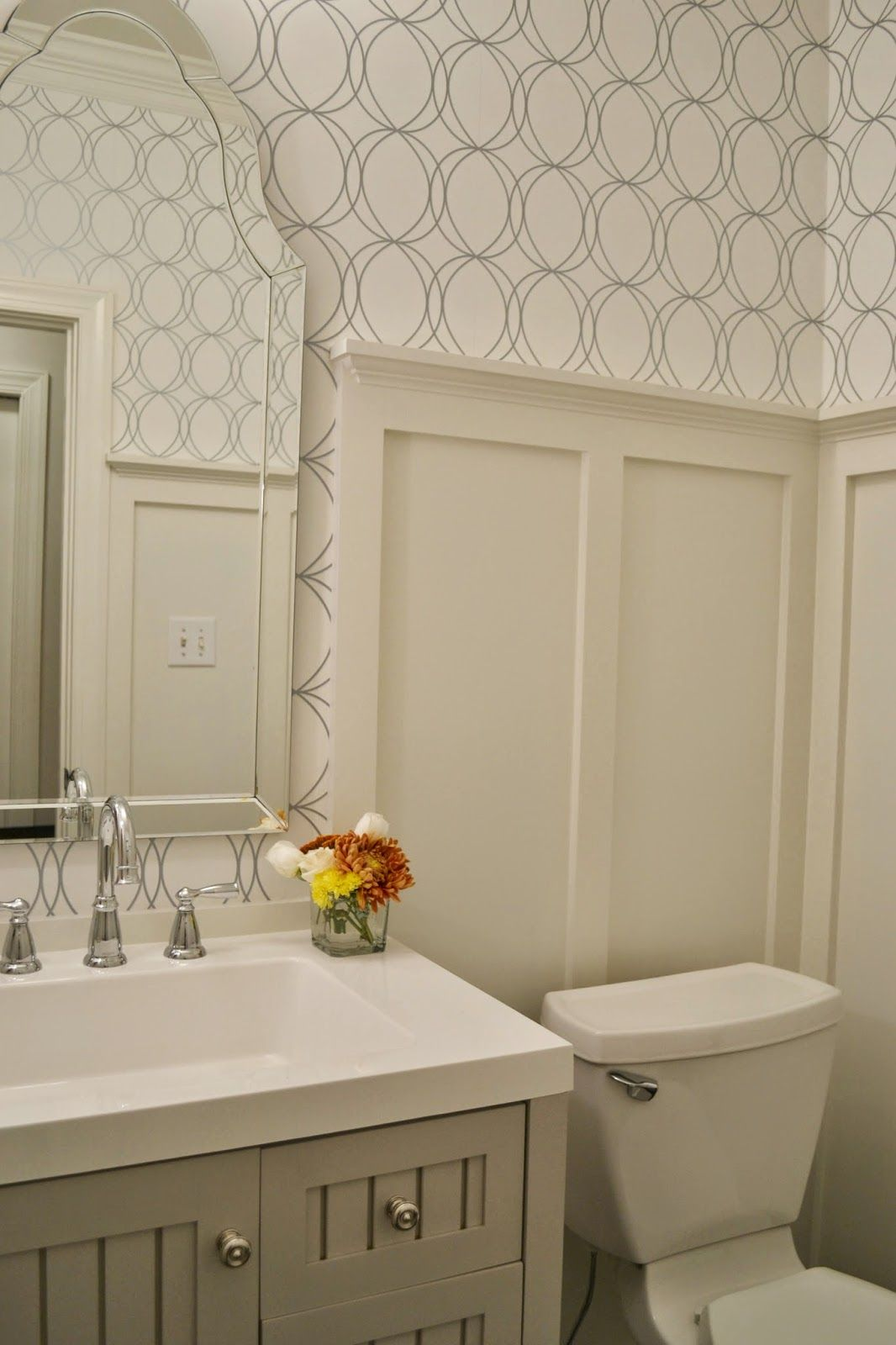 Board And Batten Wall In Small Bathroom | Hometalk