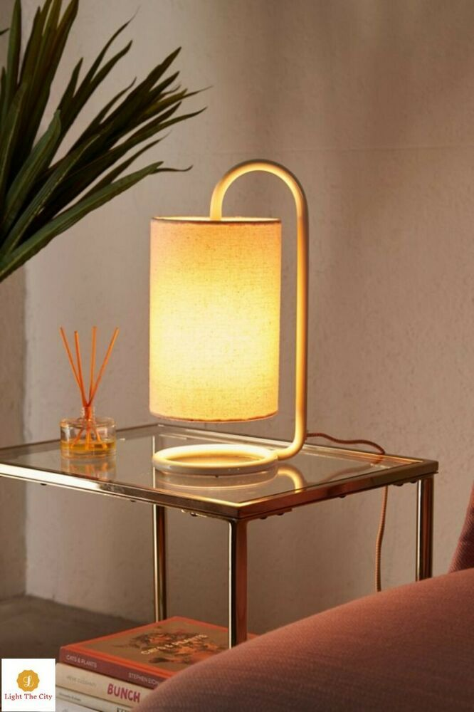 Details About Curved Table Lamp Modern Desk Shade Torch Natural Light Home Decor Reading Bulb Table Lamp Floor Lamp Room Lamp