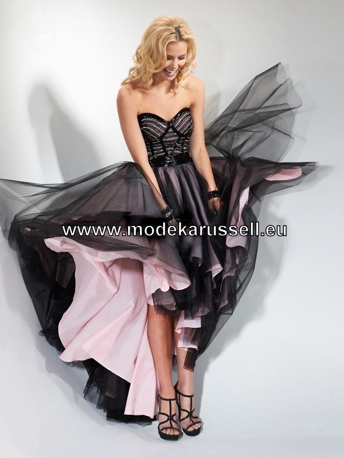 Zweifarbiges Vokuhila Kleid Abendkleid | Abend / Vokuhila Kleider ...