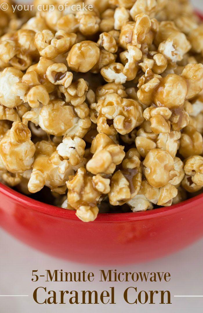 Easy Microwave Caramel Corn