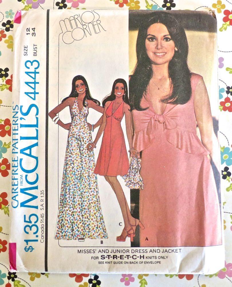 McCalls 4443 - Vintage 1970s Halter Dress and Bolero Pattern ...