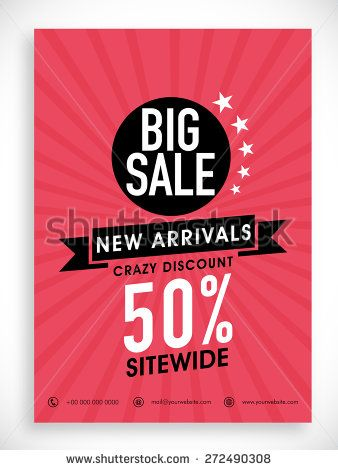 stylish big sale poster banner or flyer design with discount offer