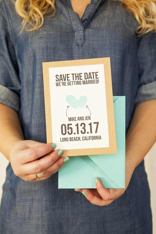 thumbprint save the date get the