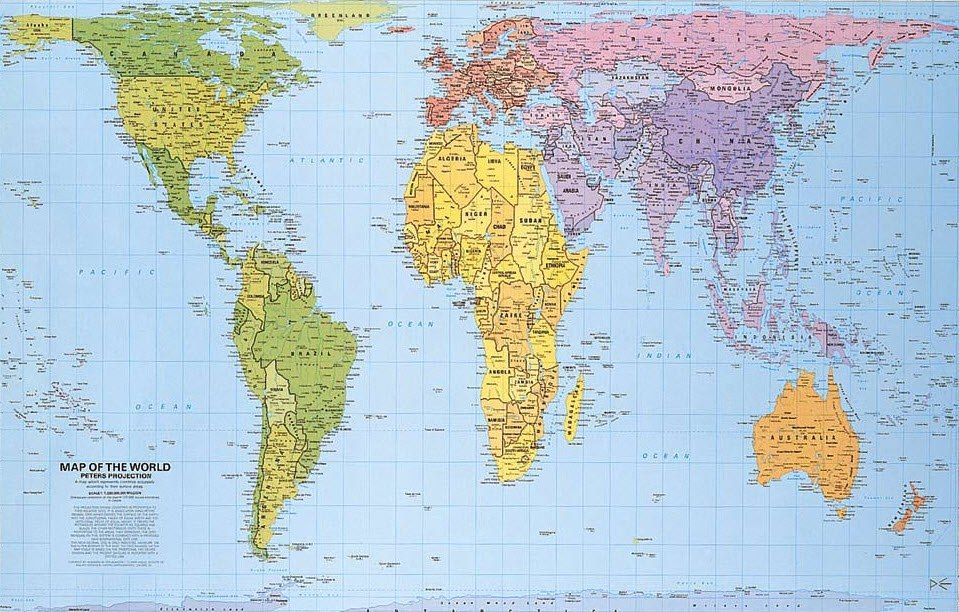 Real MAP of the world  Science  Pinterest