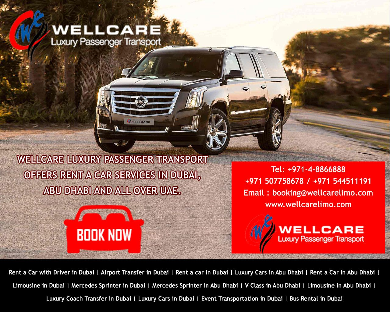 Wellcare Luxury Passenger Transport offers rent a car