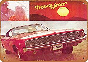 Wall Color 7 X 10 Metal Sign 1968 Dodge Charger Vintage Look Reproduction 2 1968 Dodge Charger Dodge Charger Metal Signs