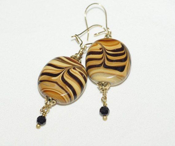 Dangle Earrings Beaded Earrings Animal Earrings Kazuri ...