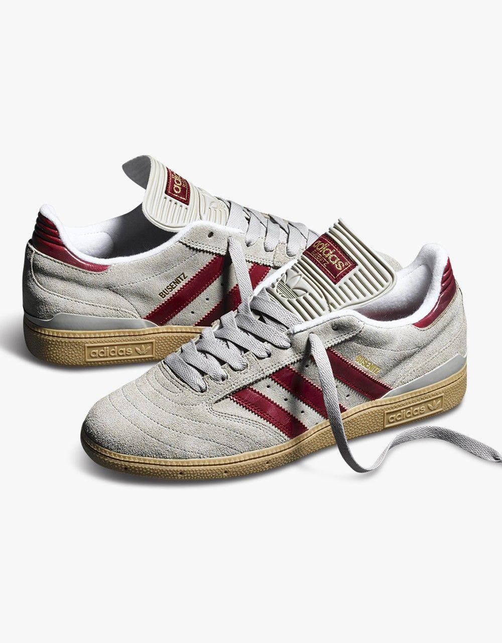 Adidas Busenitz Pro Skate Shoes - Sesame Cardinal White  abcc6ea7b