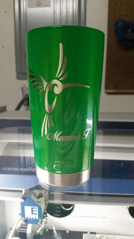 Laser etched and powder coated Yeti cup  | Custom Laser