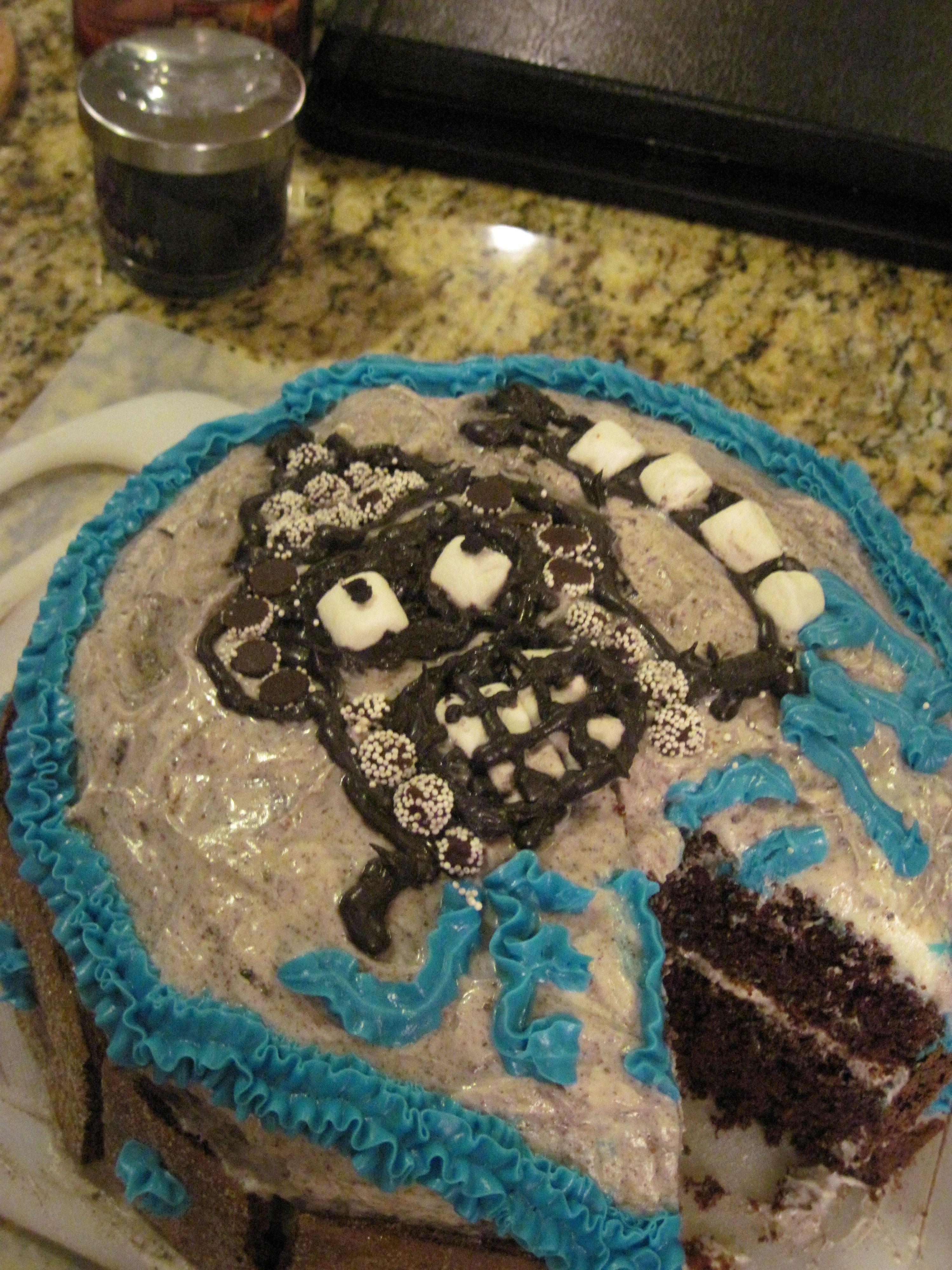 Bender Oreo Cake Chocolate cake with cookies Oreo Pudding