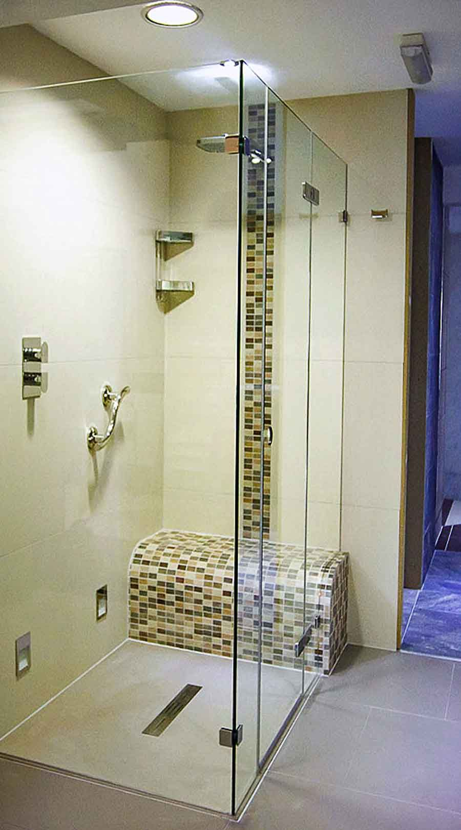 Tiled Shower Tray a frameless glass shower enclosure with ultra low profile shower