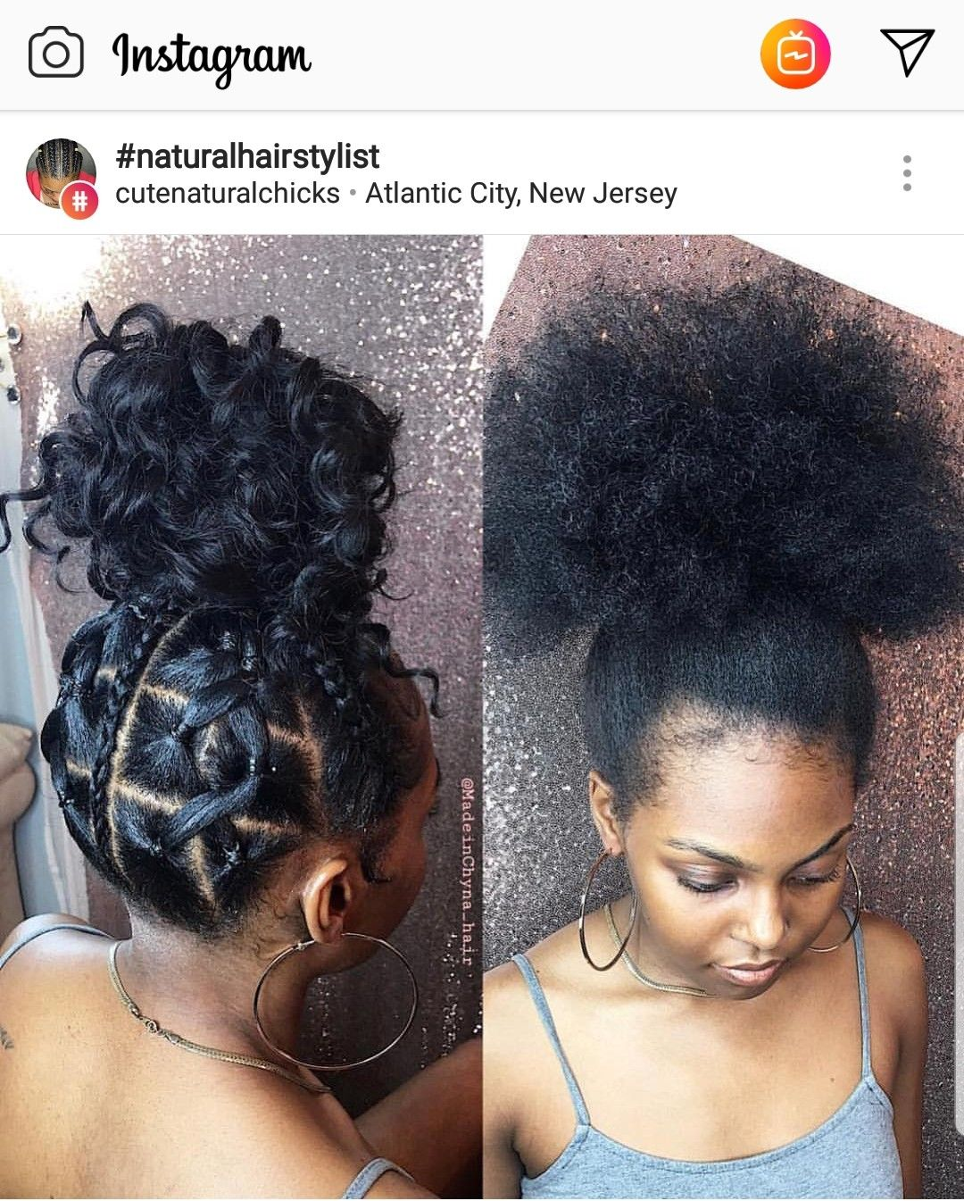 hair inspiration  Natural hair updo, Natural hair styles, Hair styles