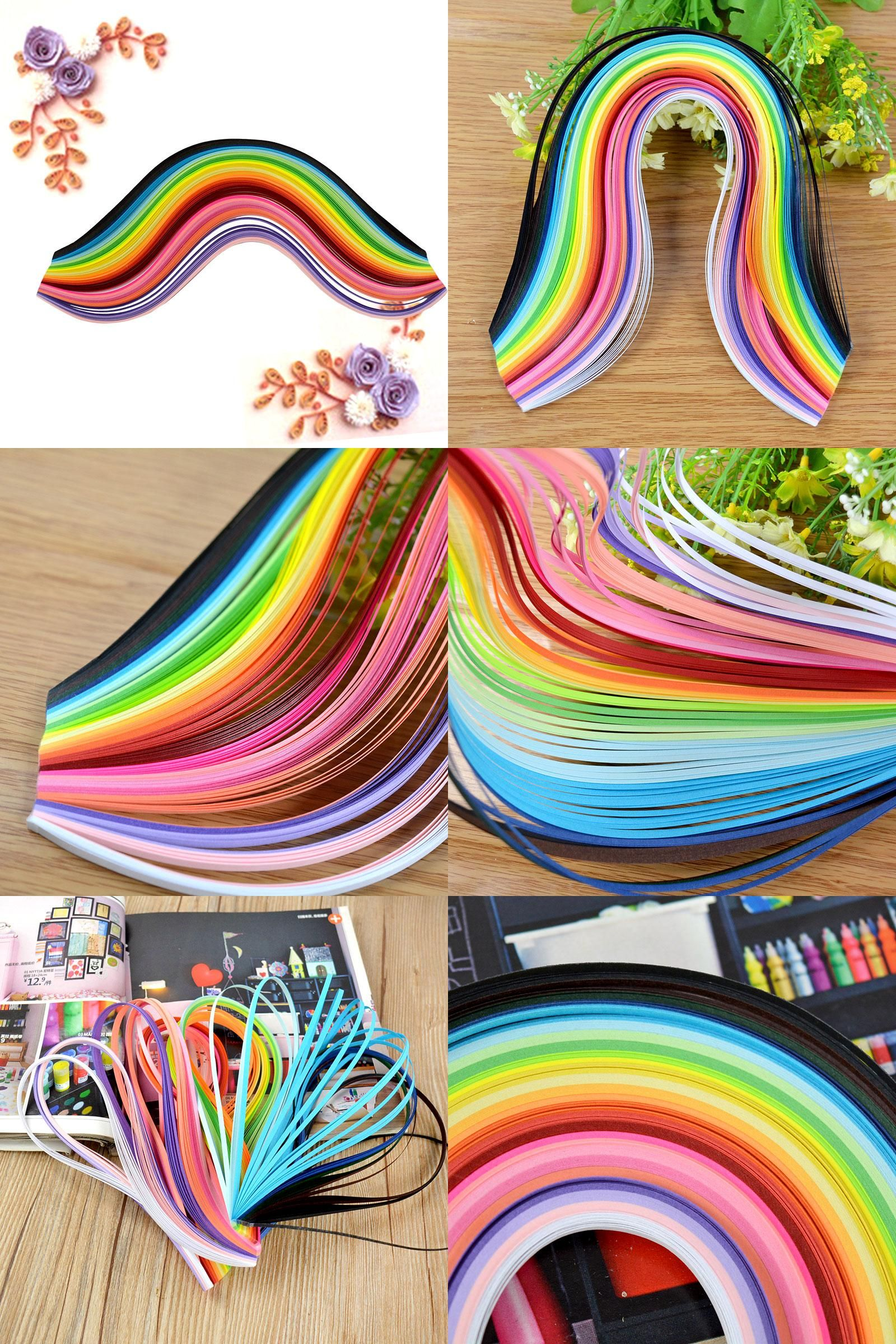 3mm Width 260 Stripes Mixed Color DIY Decor Quilling Paper Craft Origami Paper