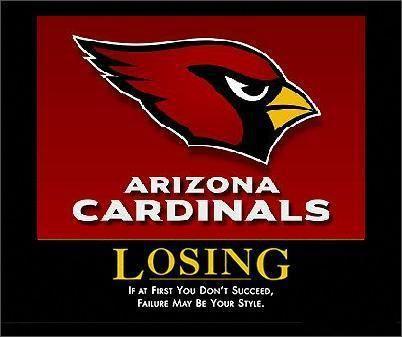 Mistaken. Arizona cardinals suck excellent words
