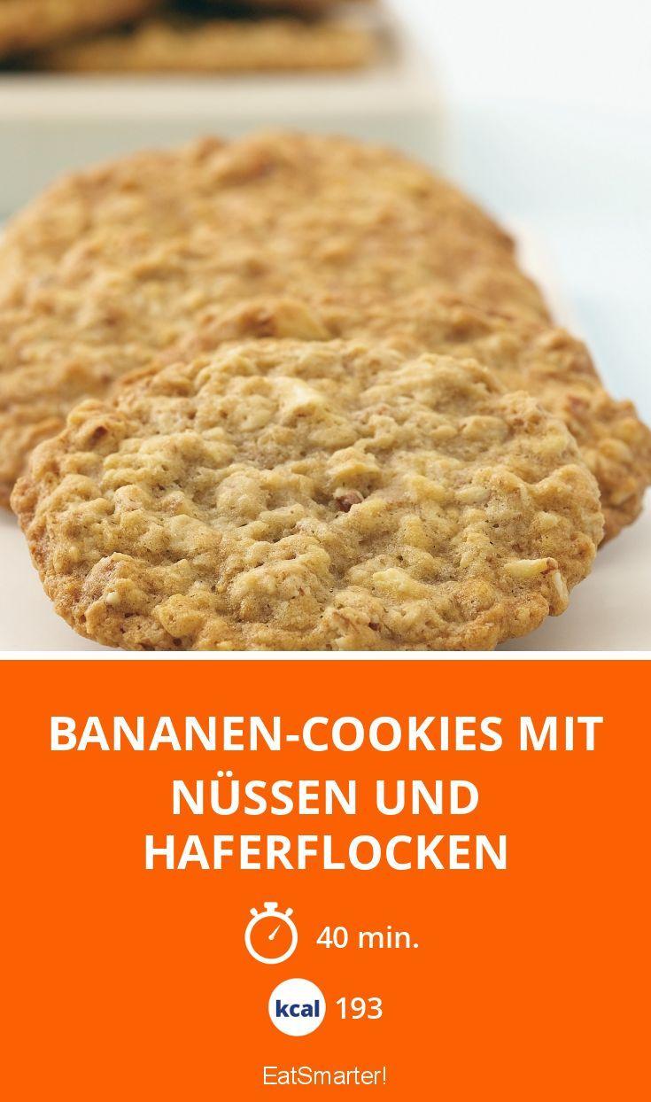 Bananen Cookies Mit Nüssen Und Haferflocken Rezept