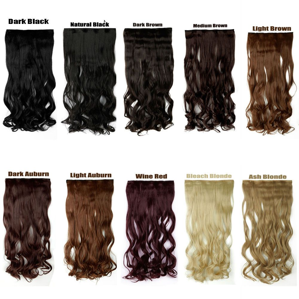 SNOILITE One Piece Synthetic Lady Curly Long Clip in Hair Extentions Half  Full Head Hairpiece 10 080f958375