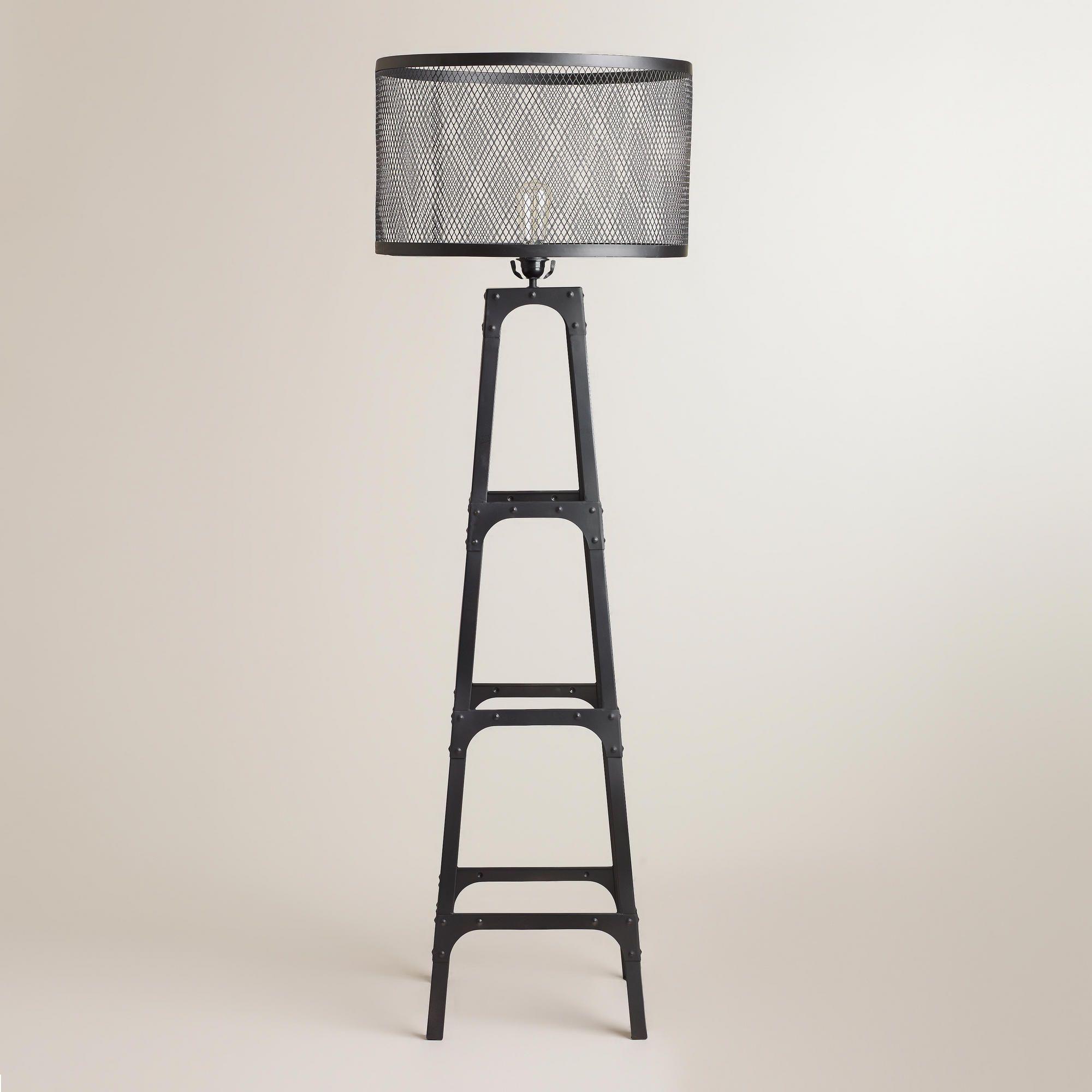 Riveted Floor Lamp Shade World Market Shade With Lamp
