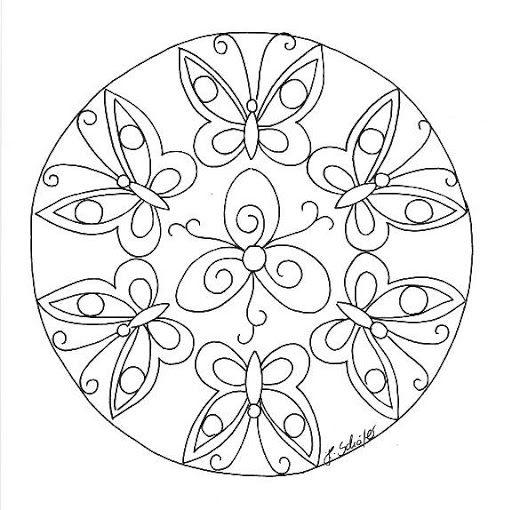 Mandala Primavera Farfalla Mandala