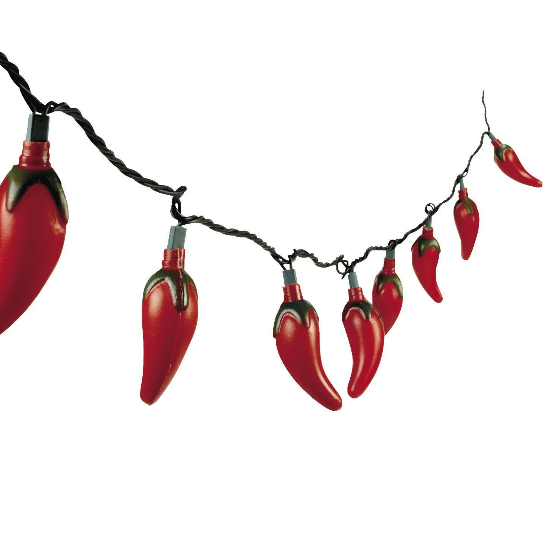 8Ft Red Hot Chili Pepper Lights Cinco De Mayo Fiesta Mexican Decor ...