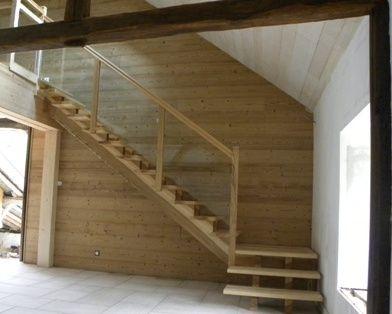 escalier quart tournant jura