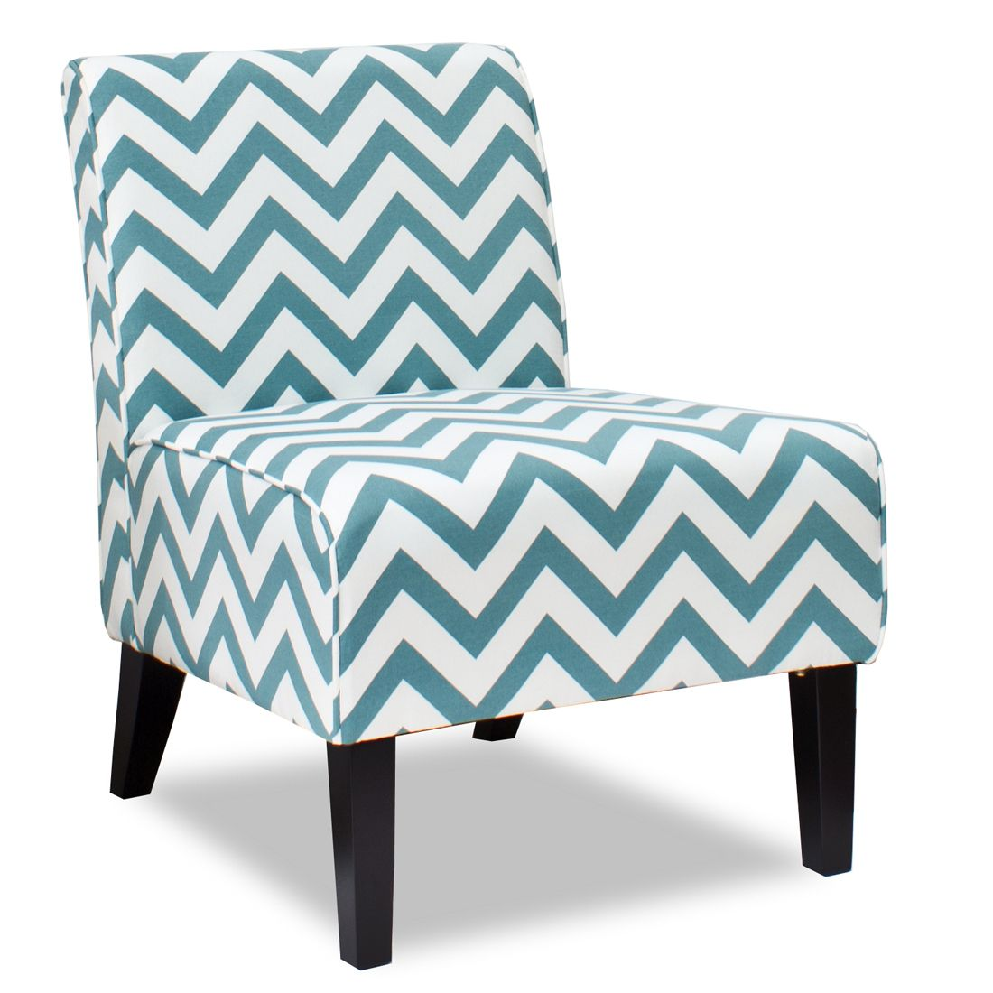 The Kevin chair with a Zigzag Turquoise fabric for $360