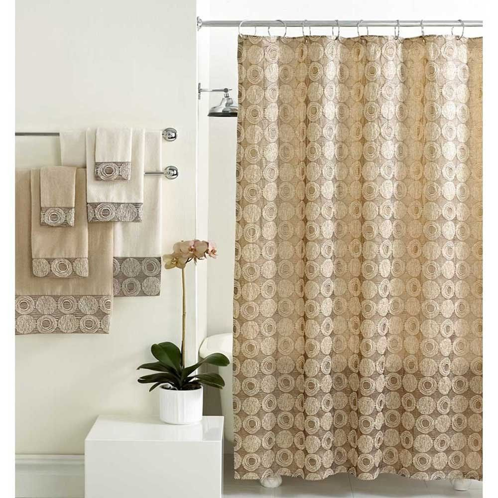 Pin By The Curtain Shop On Bathroom Decor Fabric Shower Curtains