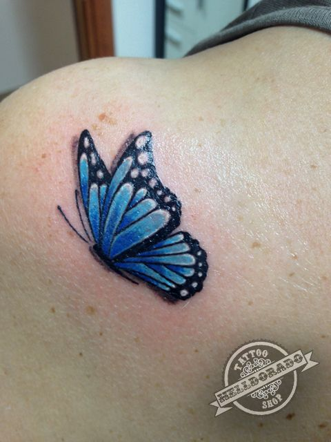 51b992d3d89fa Realistic butterfly tattoo | Butterfly tattoos | Realistic butterfly ...