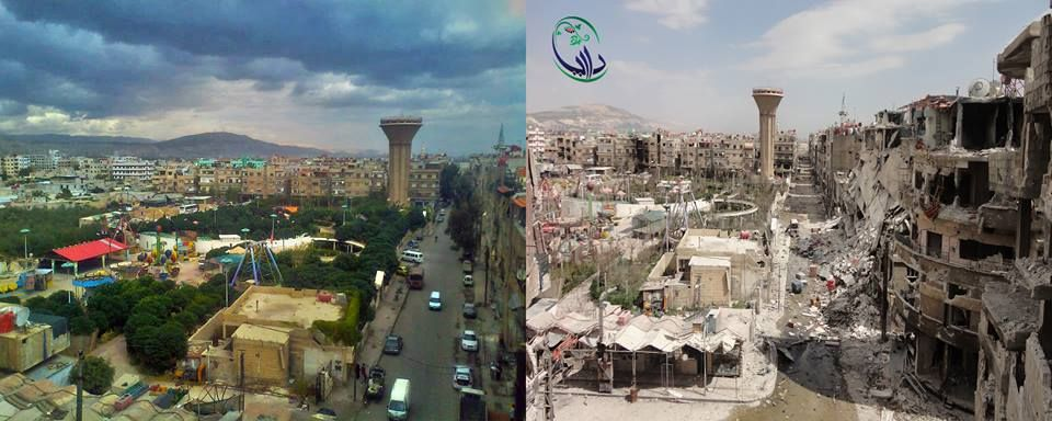 Syria Before And After War Photos Ways Steps Syria Pinterest