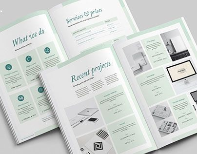Check out new work on my @Behance portfolio  - proposal of work template