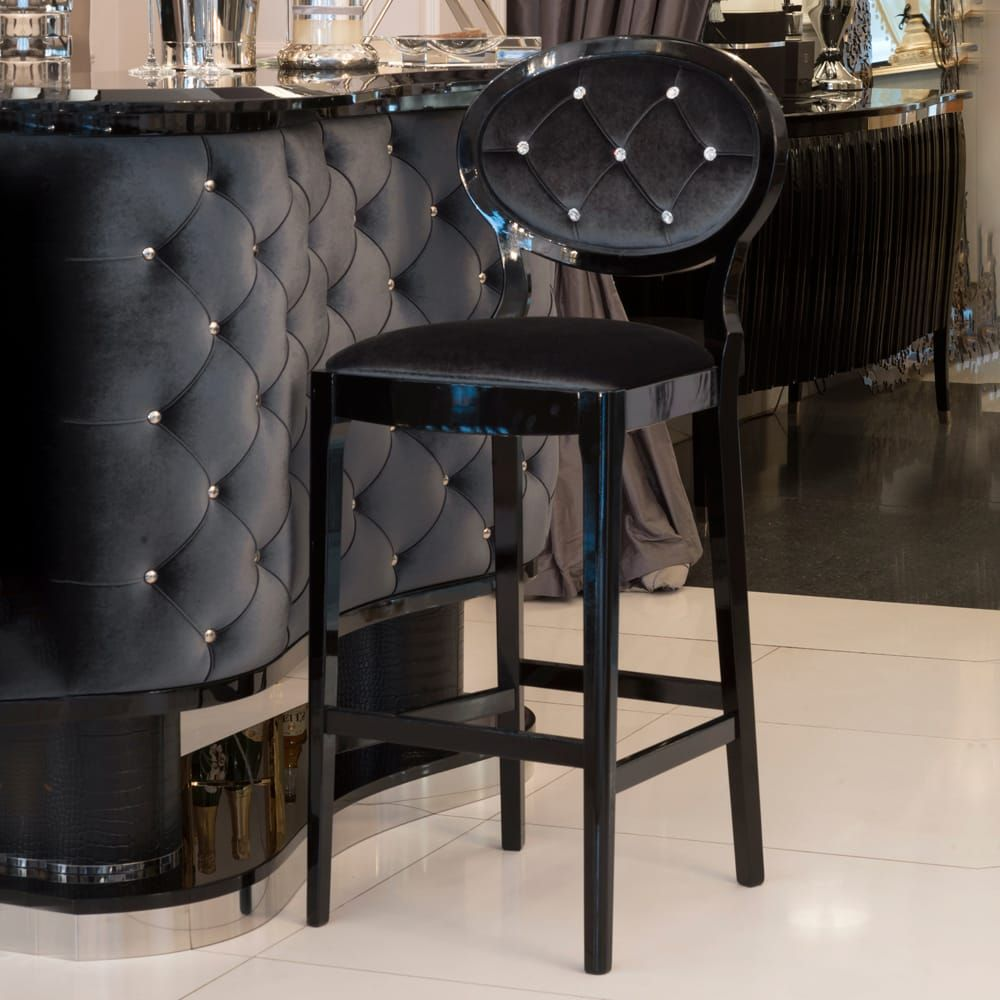 High End Luxury Upholstered Bar Stool Juliettes Interiors Upholstered Bar Stools Luxury Bar Stools Luxury Bar